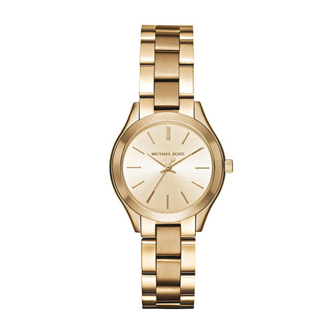Michael Kors Mini Slim Runway Goldtone Three-Hand Watch