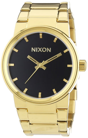 Nixon Men's Cannon A160510 Gold Stainless-Steel Quartz Watch