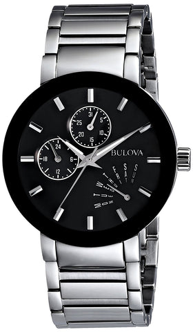 Bulova Men's 96C105 Black Stainless Steel Watch