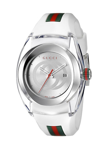 Gucci SYNC L Stainless Steel Watch with Rubber Band(Model:YA137302)