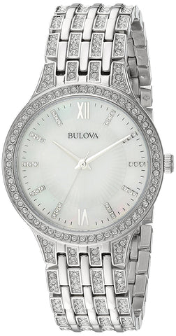 Bulova Women's 96L242 Swarovski Crystal Stainless Steel Watch