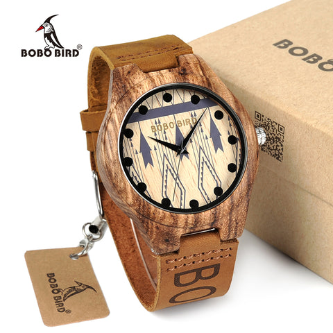 BOBO BIRD Zebra Wood Watches