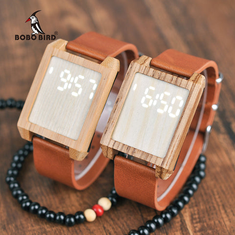 BOBO BIRD Digital Wood Watch