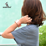 BOBO BIRD Paper Quartz Wristwatches with LED  Display