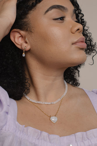 Moonstone Chain Necklace
