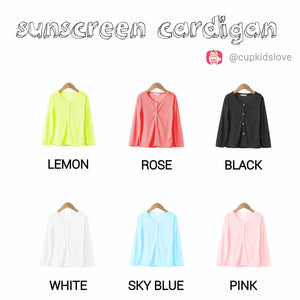 2-15Y  Sunscreen Cardigan in Candy Colour (WGJ1-001,2,3,4,5,6)