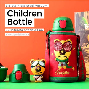 【BEDDY BEAR】Lollipop Bear Stainless Steel Vacuum Children Bottle Gift Set (Pre-Order)