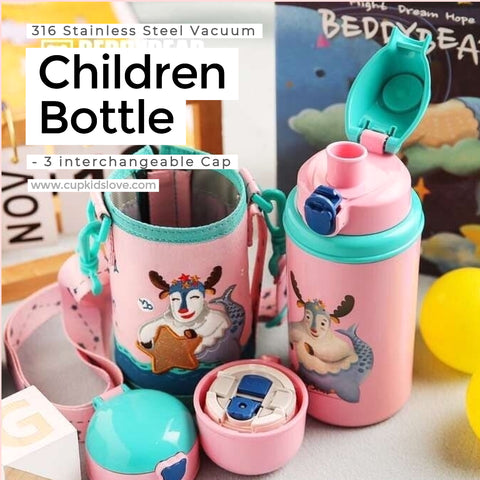 【BEDDY BEAR】Capricornus(12/23-1/22) Stainless Steel Vacuum Children Bottle Gift Set (Pre-Order)