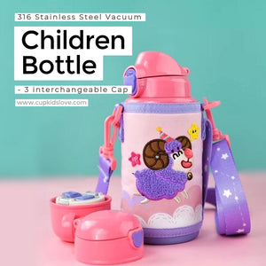 【BEDDY BEAR】Aries(3/21-4/20) Stainless Steel Vacuum Children Bottle Gift Set (Pre-Order)