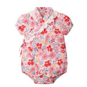 6-18M  Baby Floral Yukata Rompers  (ABRA-004)