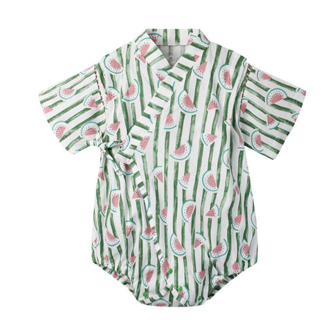 6-18M  Baby Water-melon Printed Yukata Rompers  (ABRB-002)