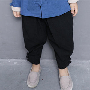 3-8Y  Boys Chinese Vintage Pants (BBSA-015)