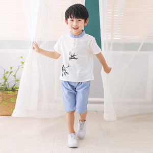 2-10Y  Boys Chinese Mandarin Collar 2-pcs Suits  (BBSE-012)