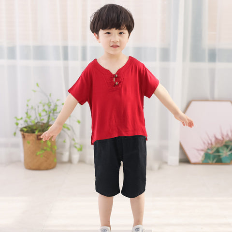 2-7Y  Boys CNY 2-pcs Sets (BBSE-013)