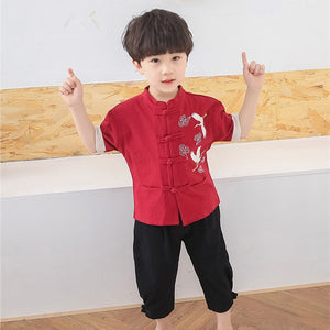 2-8Y Boys Mandarin Collar Boys Sets (BBSG-007)