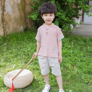 2-6Y  Boys Mandarin Collars Boys Sets (BBSG-013)