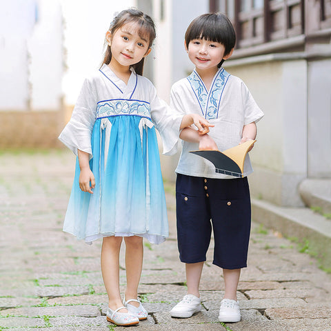 2-10Y  Boys & Girls Twinning Traditional Sets/Dress (BBSH-005, CSDT-005)
