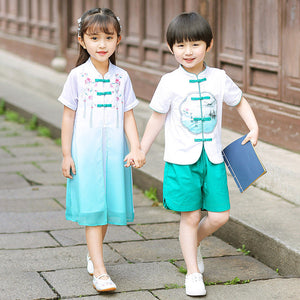 2-10Y  Boys & Girls Twinning Traditional Sets/Dress (BBSH-006, CSDT-006)
