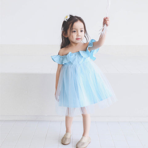 0-5Y  Girl Arctic Off-Shoulder Tulle Dress  (BGL1-005)