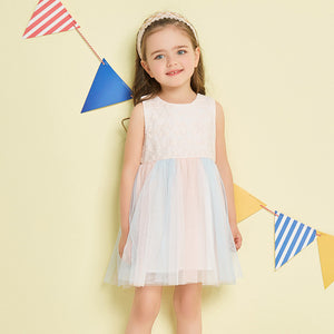 1-6Y  Girls Lace Soft Pastel Tulle Dress (BGS2-007)