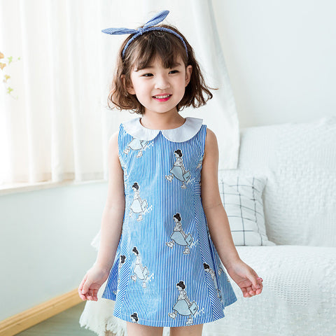 2-7Y  Girls Cotton Printed Dress (BGS2-013)