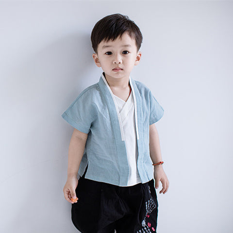 2-7Y  Boys Chinese Vintage Shirts (CBSB-019)