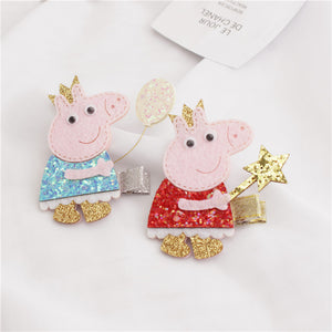 Girls Cute Pig Hair-clip (Two Colour Available)