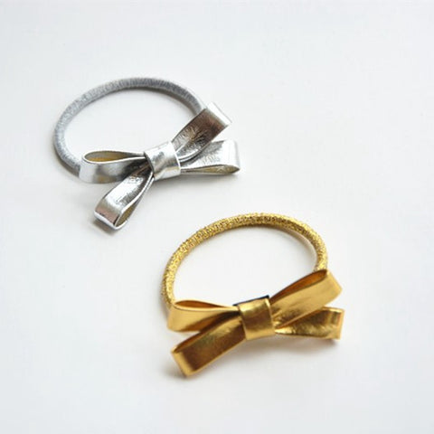 Girls Gold & Silver Ribbons Hair Tie  (CE-01,CE-02)