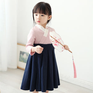 2-7Y  Girls Hanfu Retro Maxi Dress (CSDM-001)