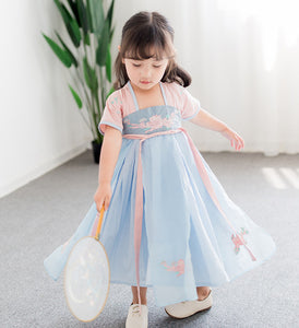 2-7Y  Girls Chang'er Maxi Dress (CSDM-020)