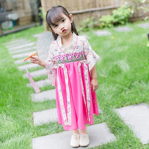 2-7Y  Girls Chinese Ethnic Costume (CSDP-003)