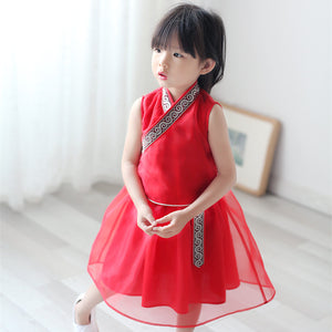1-6Y  Girls Chinese Vintage Dress (CSDQ-001)