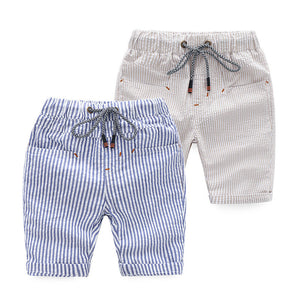 2-8Y  Boys Casual Striped Shorts (DBB1-004, DBB1-005)