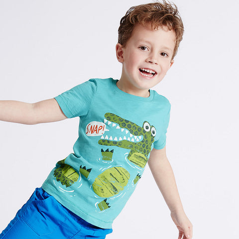 1-6Y Boys Green Alligator T-Shirt (GBTC-015)