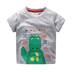 1-6Y  Boys  Embroidered T-Rex T-Shirt (GBTC-019)