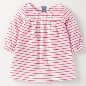 1-8Y  Girls Pink Striped Long Sleeves T-Dress (GGD4-018)