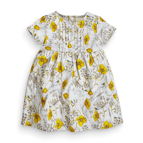 0-6Y  Girls Casual Floral T-Dress  (GGD6-001) (AH-18)