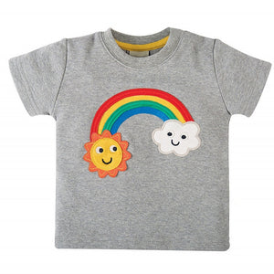 1-6Y  Girls Embroidered Rainbow Tee (GGT11-010)