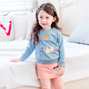 1-7Y  Girls Long Sleeves Sweatshirt  (GGT28-017)