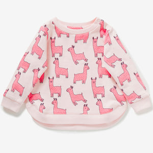 1-7Y  Girls Long Sleeves Sweatshirt  (GGT28-019)