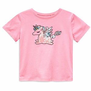 Girl Pink Unicorn Tee(GGT6-006)