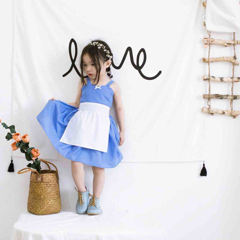 CLEARANCE  1-7Y  Alice Pinafore Dress (HGDB-014)