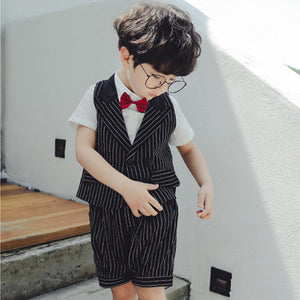 2-7Y  Boys Suit Vest, Shirt and Pants 3 Piece Set  (TCS1-016)