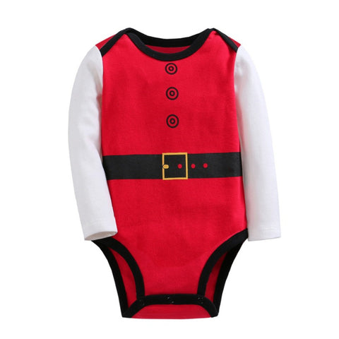 SALES  0-2Y  Baby Long Sleeves Santa Romper  (VCR1-011)