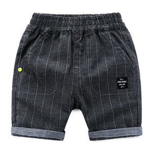 2-8Y  Boys Black Striped Knee-Length Pants  (ZBB10-016)