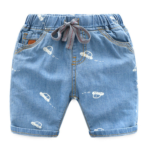 2-10Y  Boys Printed Denim Shorts  (ZBB10-017)