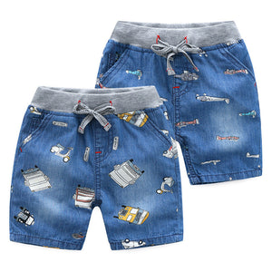 2-8Y  Boys Casual Printed Denim Shorts (ZBB7-006,ZBB7-008)