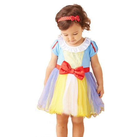 SALES  1-6Y  Girls Snow White Tulle Dress (ZGDB-001)