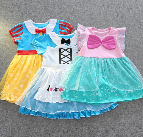 1-6Y  Princess Tulle Dress (Four Design Available)  (ZGDB-003, 005, 006, 007)