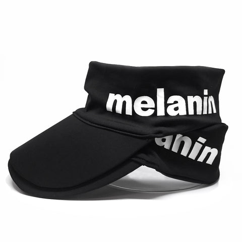 Melanin Stretch Satin Head Wrap (Logo)